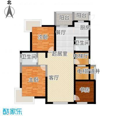 鑫瑞名苑1#1门01 2室2厅142.79㎡户型