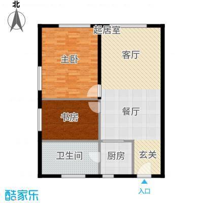 科贸时代国际公寓100.00㎡二室二厅户型