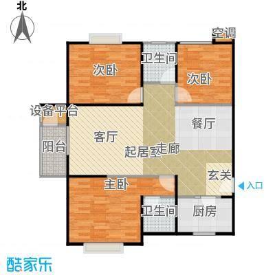 曲江海天华庭118.16㎡2010年5月19日即将售户型9号楼2单元三室两厅两卫户型