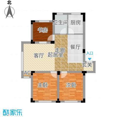 雷明锦程94.03㎡G户型3室2厅1卫户型3室2厅1卫