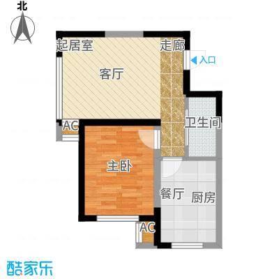 雷明锦程62.99㎡D户型1室1厅1卫户型1室1厅1卫
