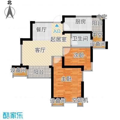 星河荣御76.00㎡二期小高层B户型2室2厅1卫