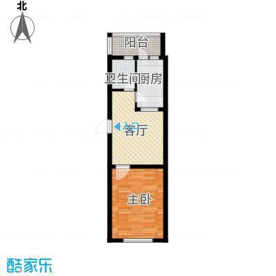 康城春天里A9户型 1室1厅1卫户型1室1厅1卫