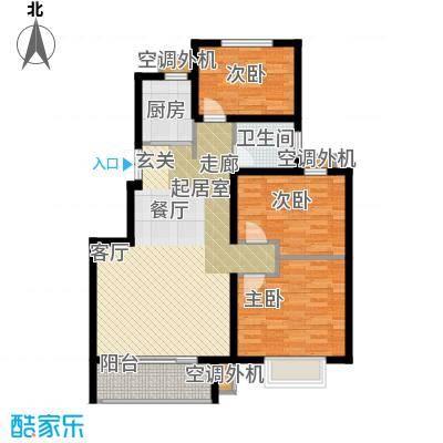 天明城三室两厅一卫93.37㎡户型3室2厅1卫