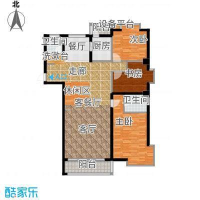 水岸天华164.43㎡三室二厅二卫户型