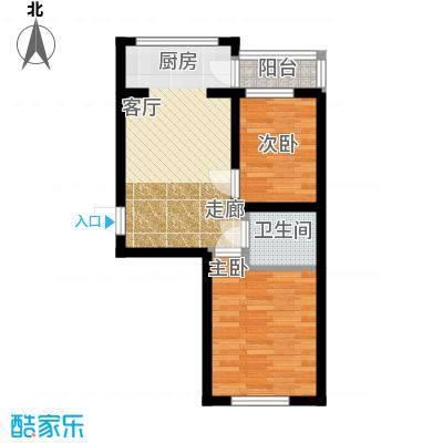 华远龙湾48.93㎡项目2室1厅1卫1厨48.93㎡户型2室1厅1卫