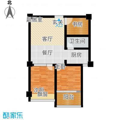 中茂橄榄城72.00㎡三室一厅一卫户型3室1厅1卫