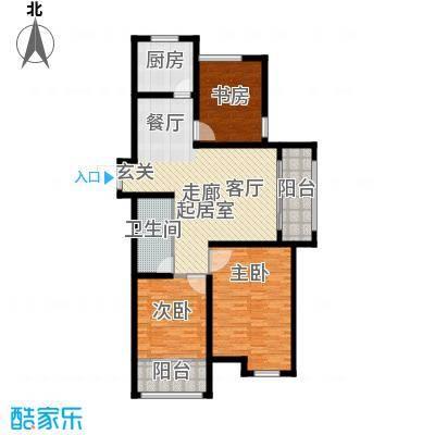 逸城山色公馆120.00㎡三室两厅一卫户型3室2厅1卫