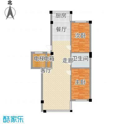 名仕家园103.74㎡C户型2室2厅
