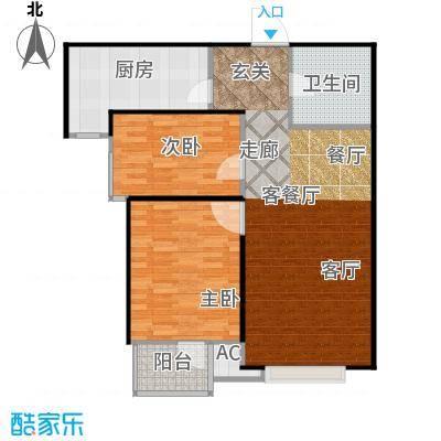 丽景溪城87.03㎡I 两室两厅一卫户型2室2厅1卫
