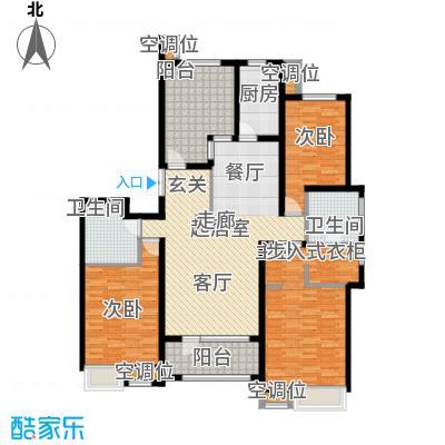 珠江道12号171.21㎡三室两厅两卫户型