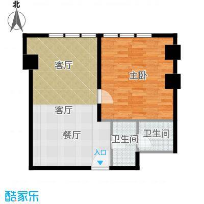 天津公馆一室两厅一卫 86平米户型