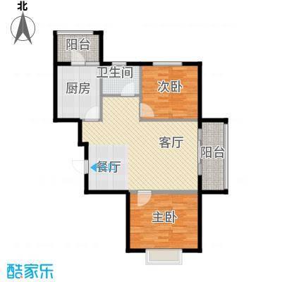 富东景苑78.10㎡户型2室2厅1卫