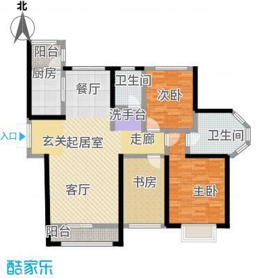 宏润・翠湖天地88.66㎡E5/F1户型3室2厅2卫