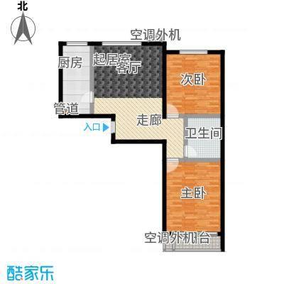 博鑫翰城91.78㎡C4户型2室2厅1卫