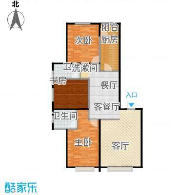 联想科技城布局合理、分区科学户型3室1厅2卫1厨