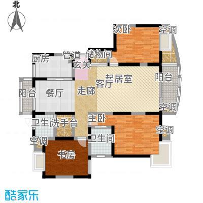 澳丽映象嘉园136.00㎡三房二厅二卫户型