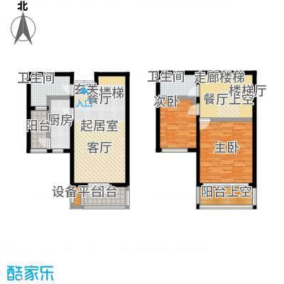 世纪梧桐公寓115.00㎡C型 二室二厅二卫户型