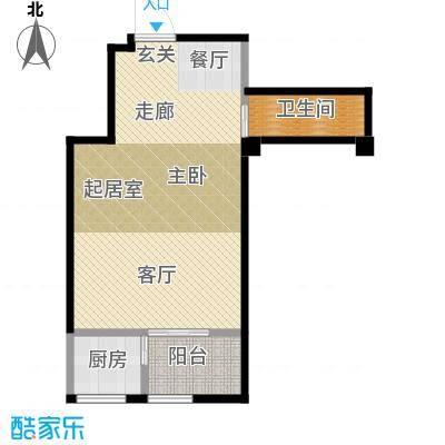 香缇公馆44.00㎡一室一厅一卫户型1室1厅1卫