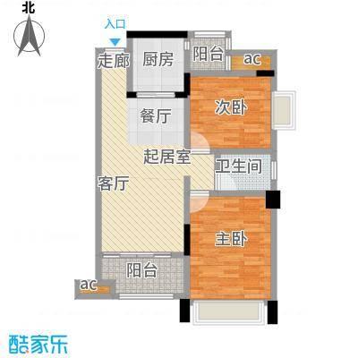 幸福湾83.00㎡1栋04单位户型3室2厅1卫