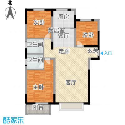 衡水花香维也纳3室2厅2卫 120平米户型3室2厅2卫
