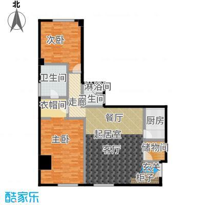 迎宾国际公寓151.23㎡1门01户型 二室一厅户型