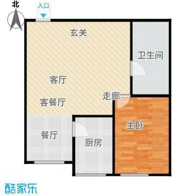 梅江馨城61.17㎡1室1厅1卫户型