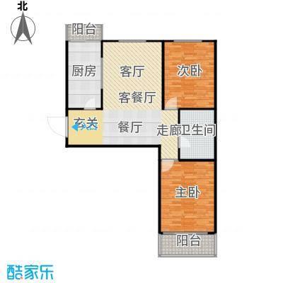梅江馨城95.14㎡2室2厅1卫户型