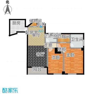 迎宾国际公寓158.14㎡1门05户型 二室二厅户型