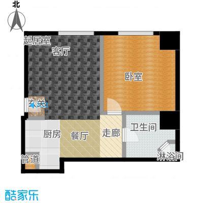 迎宾国际公寓1门07户型 一室一厅 79.50㎡户型