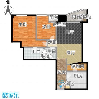 迎宾国际公寓1门10户型 二室二厅 155.21㎡户型