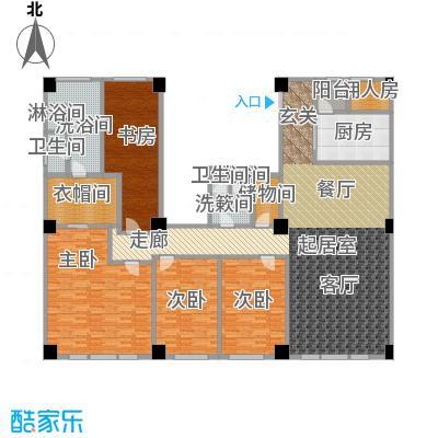 迎宾国际公寓4门01户型 四室二厅 330.72㎡户型