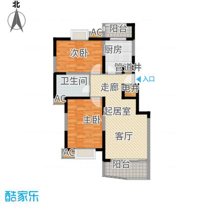 云顶峰尚D户型 3室1厅1卫 103.74平米户型