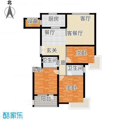 汇中广场1号楼/2号楼 B1户型 三室二厅二卫 138.19㎡/139.27㎡户型3室2厅2卫
