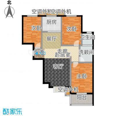 博世花倾城二区112.10㎡B1户型三室两厅一卫一厨户型3室2厅1卫