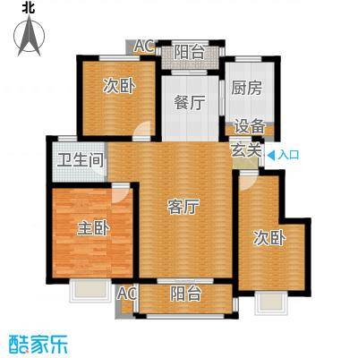 银河龙祥圣府户型3室1厅1卫1厨
