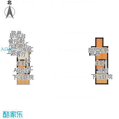 皇家御湾94.00㎡S3'户型两室两厅一卫户型2室2厅1卫-1