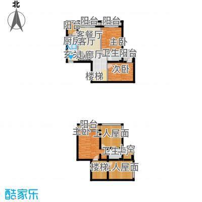 安德小城故事152.01㎡2011年10月发售1期1批次A2跃层型户型3室1厅2卫1厨