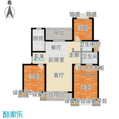 望虞花园122.00㎡21#户型3室2厅2卫