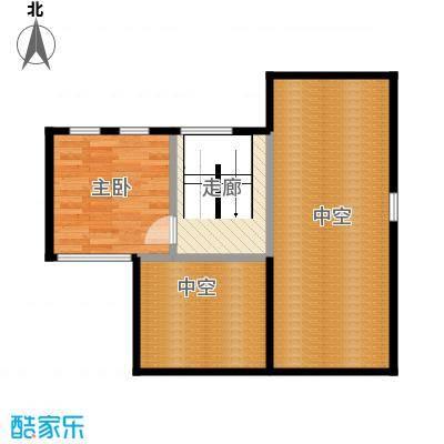 福晟钱隆城63.20㎡B跃层户型3室2厅1卫