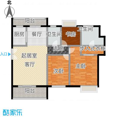 福晟钱隆城142.00㎡D户型3室2厅2卫