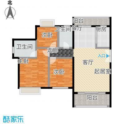 福晟钱隆城129.00㎡C户型3室2厅2卫