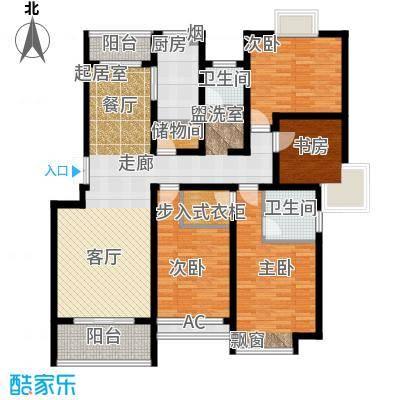 复地翠微新城(三期)137.00㎡房型: 四房; 面积段: 137 -171.04 平方米;户型