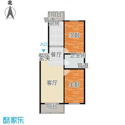 江霆华府76.46㎡项目多层使用面积76.46平米户型2室2厅1卫