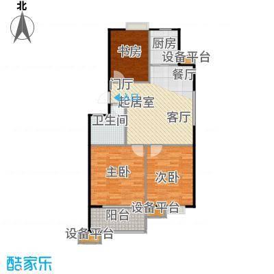 蔚海新天地88.90㎡WD2户型3室2厅2卫