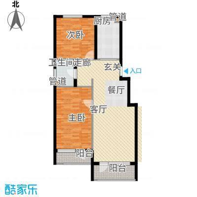 蓝色康桥F区97.62㎡2室2厅1卫