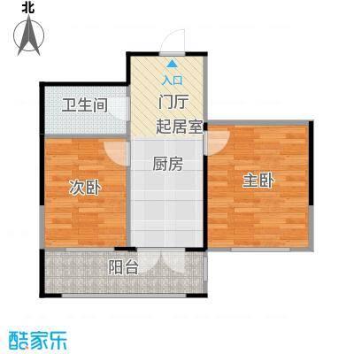 长禹星港湾69.26㎡2室1厅1卫户型2室1厅1卫