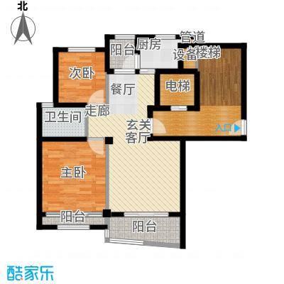 碧海莲缘四期90.00㎡小高层户型E 2室2厅1卫1厨户型2室2厅1卫