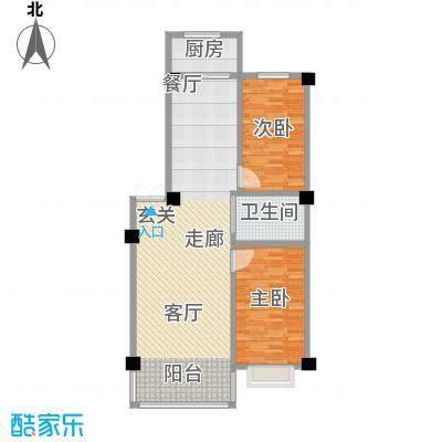 聚隆城尚城S户型2室1卫1厨