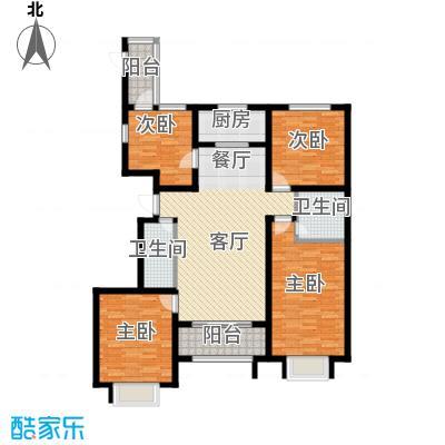 公园里128.00㎡7#9#10#号楼K1户型4室2厅2卫